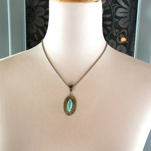 Real Turquoise Costume Necklace. Brand NEW w/Tags